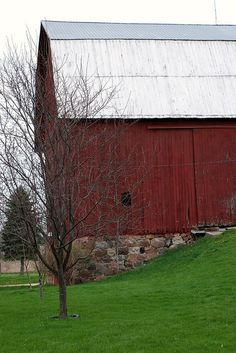 Red Barn, Metal Roof
