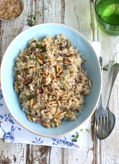 Bacon & Apple Risotto with Garlic & Thyme