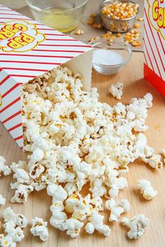 Homemade Microwave Popcorn - so easy!! Just 1/4 cup popcorn in a paper bag, fold the top over, and microwave 2-3 minutes. Stop when pops are 2-3 secs apart.