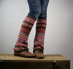 up-cycled leg warmers from old sweater sleeves
