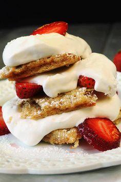 Strawberry Shortcake with Homemade Brown Sugar-Cinnamon Oatmeal Pop Tarts.