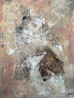 """""""Figure"""" by Scott Bergey - 12 x 9 , mixed media on paper 2012"""
