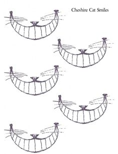 """For mad hatter tea party Cheshire Cat Smiles-put on A stick so every can hold it up to their face and """"smile""""!  #printables #alice_in_wonderland #cheshire_cat"""