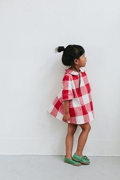 DuchessandLionCo kids fashion, checked dress. A #CanDoBaby! fave.