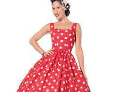 Free downloadable pattern for a 1950s prom dress #vintage