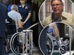 Harrison Ford in a wheel chair after ankle injury #StarWarsEpisodeVII