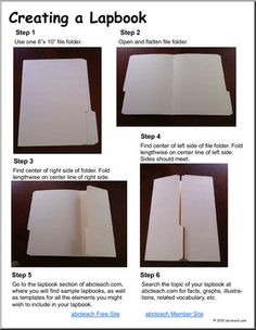Lapbook instructions - great learning tool, and so easy to create!