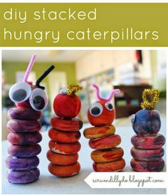 diy stacked hungry caterpillars