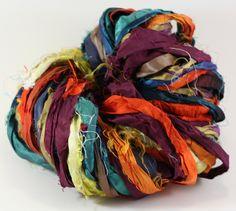 silk sari, saris, silk ribbon, ribbons, yarn 100g, sari ribbon, ribbon yarn, recycl silk, knit