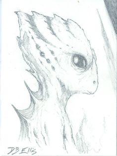 GUILD NAVIGATOR NO 3  original sci fi art, ACEO, Frank Herberts Dune