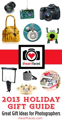 Awesome Holiday Gift Ideas for Photographers!  Get exclusive product discounts for a limited time only at iHeartFaces.com. #photography #holiday #gifts