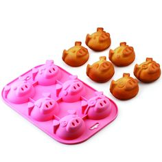 Pig-Shaped Baking Molds