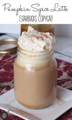 Pumpkin Spice Latte Recipe. Skip the 'bucks and try this version made with real pumpkin! #psl #pumpkin #copycat