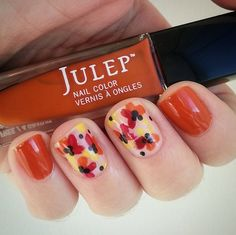 Gorgeous fall mani using Julep Ingrid. Happy first day of fall!