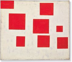 """Blinky Palermo """"Composition With 8 Red Rectangles"""" (1964)"""