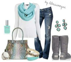perfect turquoise outfit