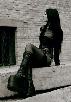 gothic style platform boots