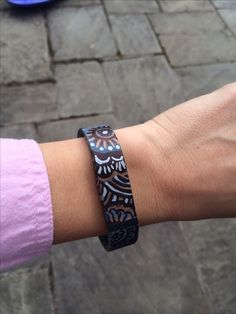 Fitbit flex decorated with sharpies!
