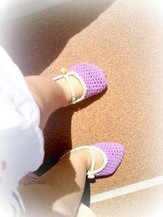 AZ ATELIER: Unas zapatillas de ganchillo para la princesa de la casa