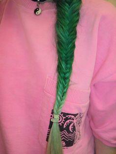 green fishtail braid