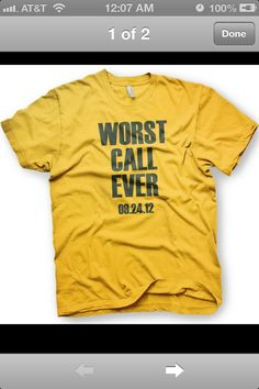 Greenbay packers tee shirt LOL! I lost a lot of money on that game in Vegas!
