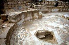 Mosaic of ancient Byzantine Church -