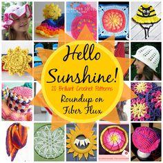 Fiber Flux...Adventures in Stitching: Hello Sunshine! 20 free crochet patterns full of sunny goodness...
