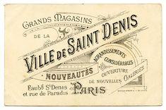 Vintage French Graphic - Amazing Paris Ephemera