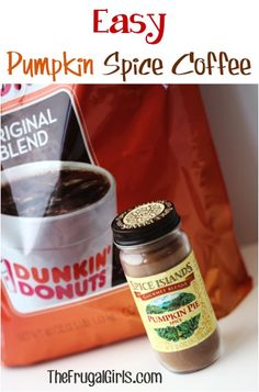 Easy Pumpkin Spice Coffee Recipe from TheFrugalGirls.com