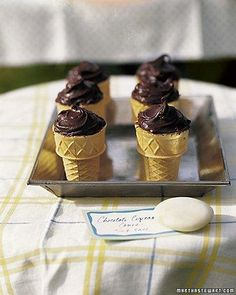 Chocolate Cupcake Cones