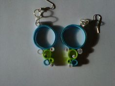paper quilling more earrings :)