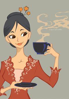 coffee does make one pretty