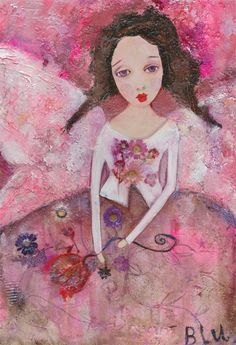 pretty pink angel