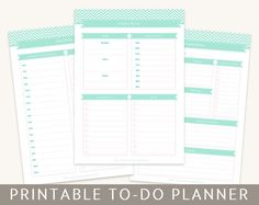 Printable To Do Planner Organizing Pages in A4 and Letter Size - Editable PDF Files - Instant Download