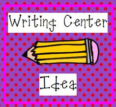 Writing center idea and free printable.