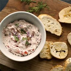 Fresh bagel chips are the perfect accompaniment to this elegant but easy Smoked Salmon Dip.