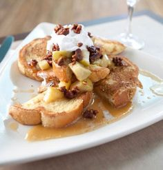 Pear & Vanilla French Toast Bake | Scrumptious & Healthy! | 148 Guilt-free Calories from @eglin duong's Best  #client