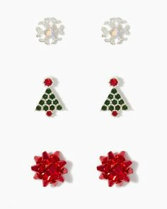 The bows are so cute! New Ears Eve Earring Set   Earrings   charming charlie