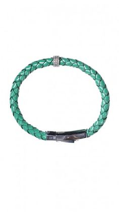 beach chic (braided turquoise leather & diamond by Maris)