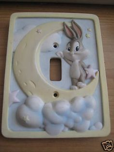 baby looney tunes for the nursery lamp   Baby Looney Tunes Little Stars Nursery Switch Cover - Templin Twins ...