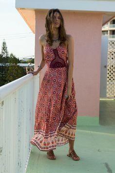 Hope Maxi Dress Apricot Dream - Arnhem Clothing