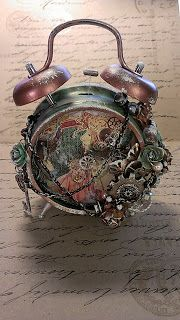 KittysScrapPost: Steampunk Altered Alarm Clock