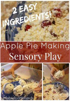 Pretend Play Apple Pie Making Sensory Bin