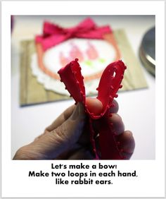 making this bow