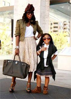 June Ambrose and daughter... So cute! daughter
