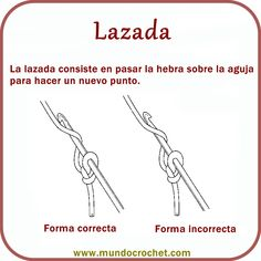 Lazada crochet - Aprender a tejer crochet - Learn to crochet - научиться вязанию крючком
