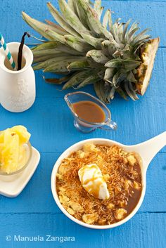 PINEAPPLE CRUMBLE WITH BUTTERSCOTCH SAUCE
