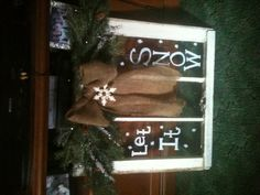 Another old window turned into Christmas gift