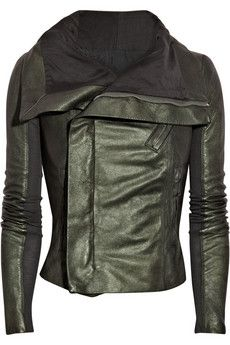 Rick Owens leather jacket. One day, my pretty.