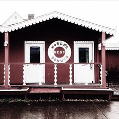 Donuts make any day better! @katea  visited World's Best Donuts in Grand Marais, Minnesota to pick up a sweet treat.  #donuts #Minnesota #OnlyinMN
